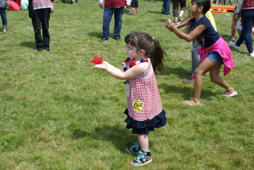 The old time games are always popular with area children...and they make adorable photos!
