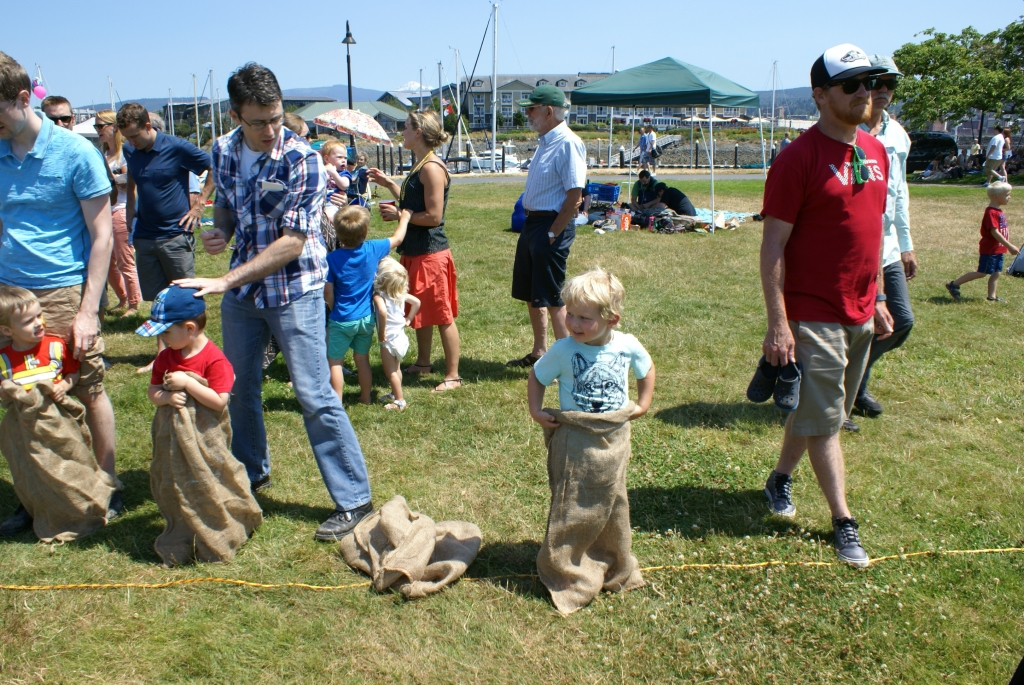 Potato sack races are just one of the fun Olde time games we play at the Haggen Family 4th!