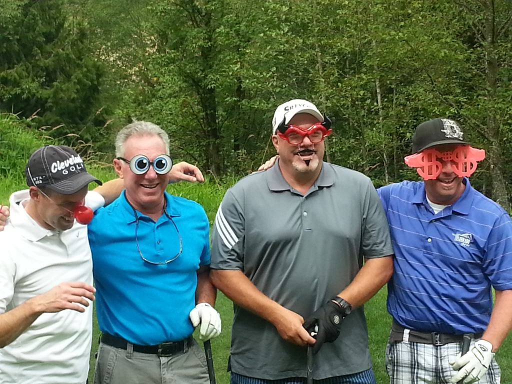 Who are those masked men golfing at the 2015 Chamber Golf Classic?