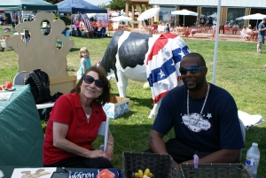 Chris Rasmussen and Marvin Riggs at the Haggen Family 4th of July Celebration